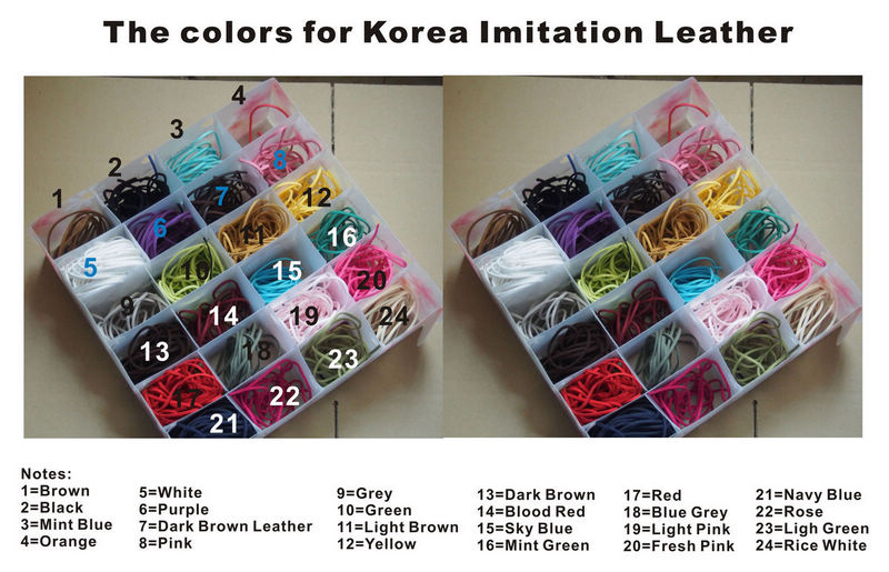 the colors for Korea Imitation leather