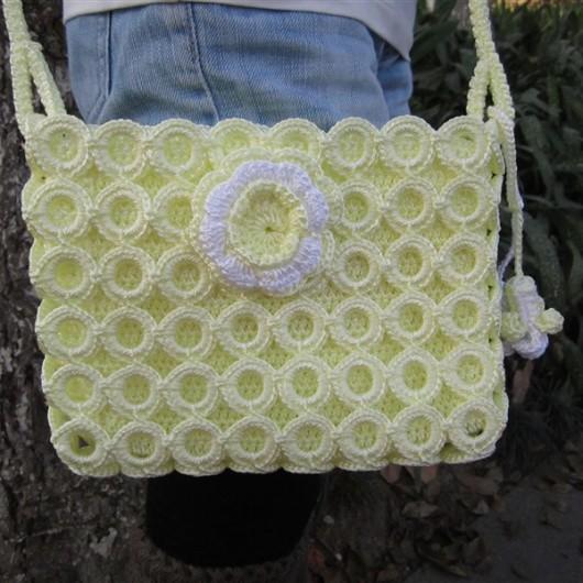 Knit handbag-lace fashion knitting handbag-pure beauty handbag-fashion knitting bag-brown knitting bag-womens handbag-handmade tote-hand knit shoulder bag-women accessories-yellow