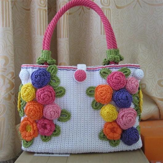 Knit handbag-spring festival handbag-pure beauty handbag-fashion knitting bag-brown knitting bag-womens handbag-handmade tote-hand knit shoulder bag-women accessories