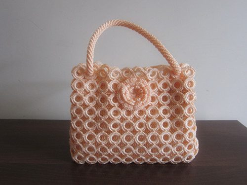 Knitting handbag-lace knitting handbag-fashion knitting bag-brown knitting bag-womens handbag-handmade tote-hand knit shoulder bag-womens accessories