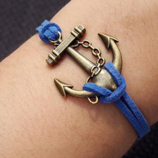 anchor bracelet-anchor,bracelet,bracelet anchor,charm bracelet,blue bracelet
