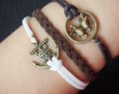 anchor bracelet-anchor,bracelet,bracelet anchor,love,love bird bracelet,charm bracelet,braid bracelet,infinity,cross,best gift