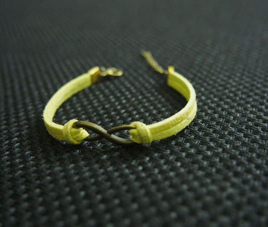 bronze infinity bracelet,antique infinity bracelet,wish bracelet,single bracelet,friendship bracelet yellow