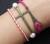cross-eiffel-braided-bracelet-cross bracelet eiffel bracelet braided bracelet charm bracelet pink bracelet-best gift