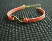 infinity bracelet antique brass metal leather bracelet wishbracelet friendship bracelet