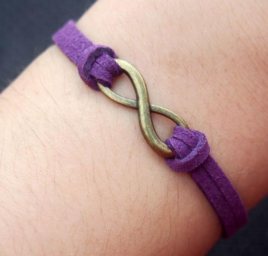 infinity bracelet-infinity,bracelet,bracelet infinity,charm bracelet,love bracelet,anchor bracelet,cross bracelet,purple-best gift