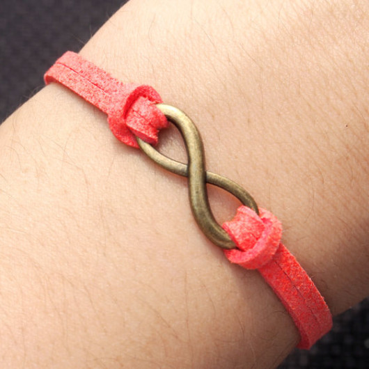 infinity bracelet-infinity,bracelet,bracelet infinity,charm bracelet,orange bracelet,best gift