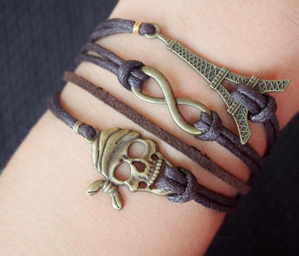 Skull Bracelet Sale Bracelet-infinity,skull