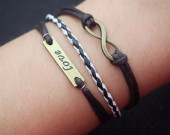 infinity bracelet-infinity,bracelet,love,love bracelet,bracelet infinity,braid bracelet,charm bracelet,best gift
