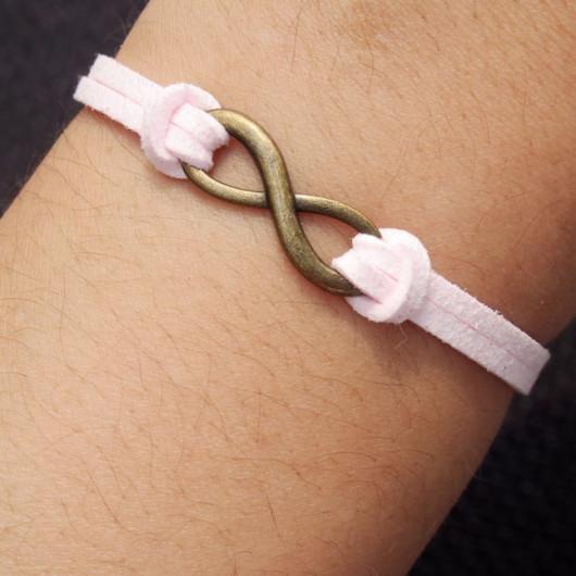 infinity bracelet-infinity,bracelet,pink bracelet,charm bracelet-best gift