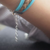 anchor, pirate & skull charm bracelet-antique silver bracelet-mint green bracelet-imitation leather bracelet-personalized friendship gift