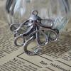 octopus alloy bracelet supplies antique silver bronze color