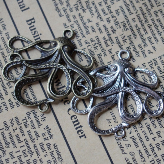 octopus alloy bracelet supplies antique silver bronze color
