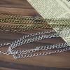 extended chain bronze , silver color-bracelet supplies