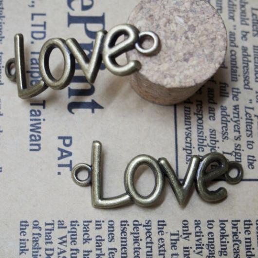 40*15mm-Love Arc Vintage Alloy-Bracelet supplies--Antique Bronze-Discount Wholesale Price-10pcs/lot