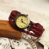 Braided leather watch