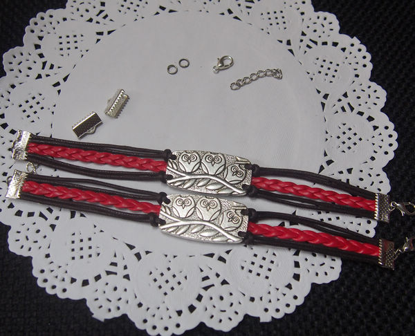 Braided Leather Charm Bracelet Tutorial handmade