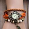 handmade charm watch vintage watch-orange