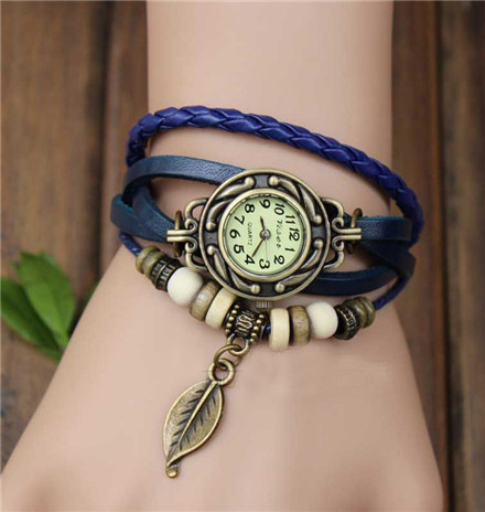 handmade charm watch vintage watch-purple