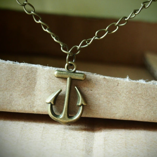 Anchor-Necklace-Bronze-Vintage-Fashion