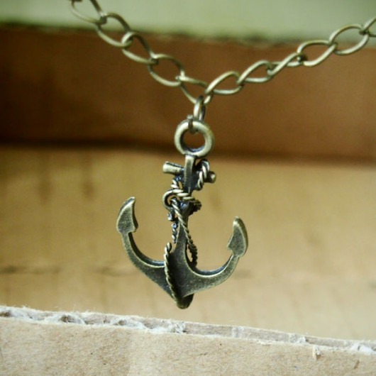 Bronze-Anchor-Necklace