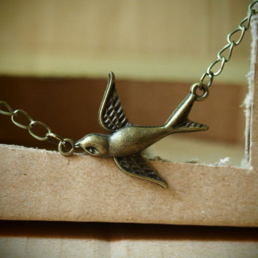 Flying-Bird-handmade-necklace-vintage