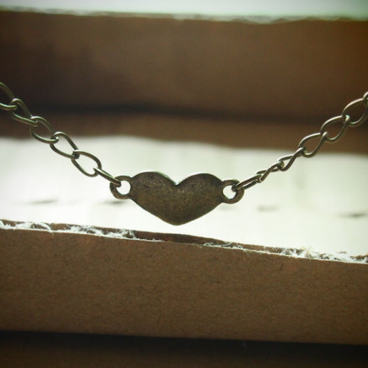 Love-heart-Necklace-bronze