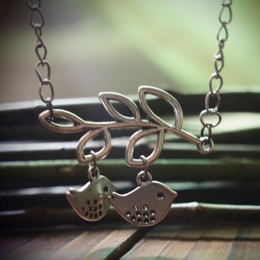 Silver-Birds-Branch-Necklace