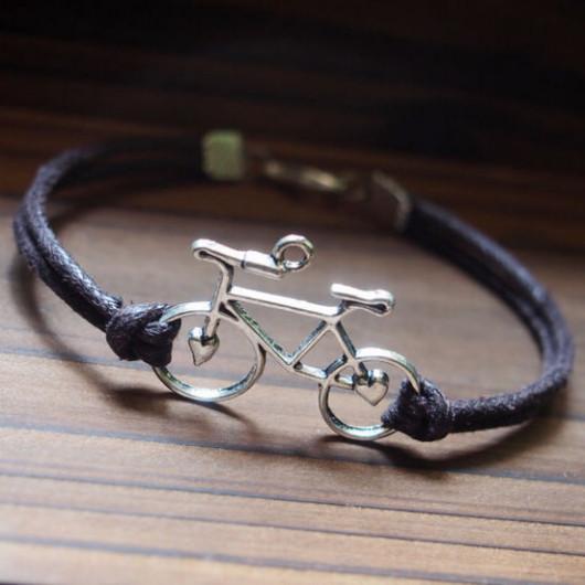 bike bracelet silver