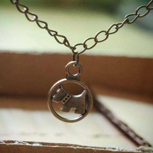 cute-dog-pendant-necklace-bronze