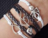 handmade-bracelet-infinitymusicskulloctopus-bracelet