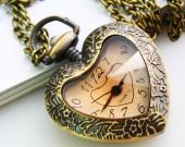 heart shape pocket watch