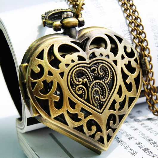 heart shape pocket watch