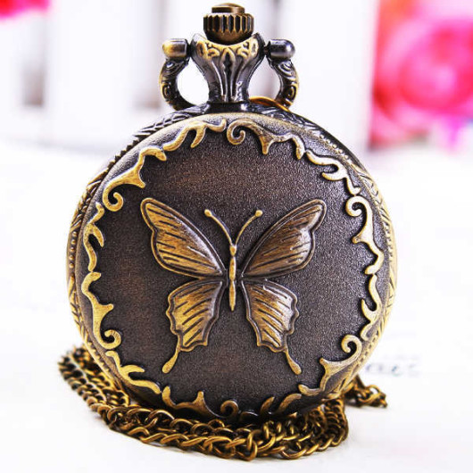 pocket watch butterfly for girl friend