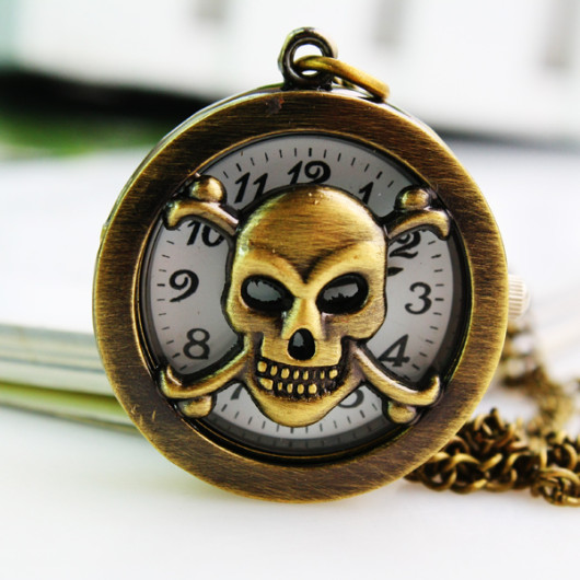 pocket watch skull