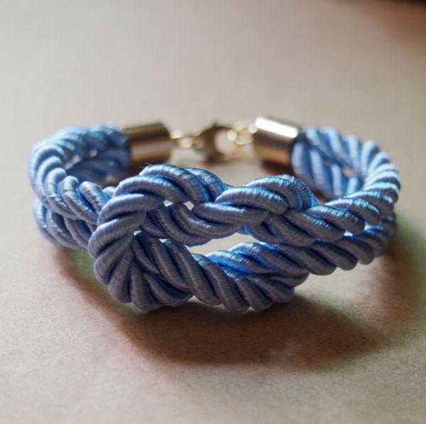 Blue-rope-knotting-bracelet-silk