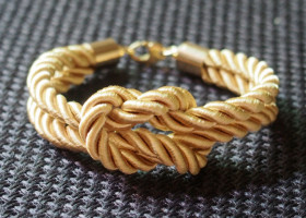 Gold-silk-rope-bracelet
