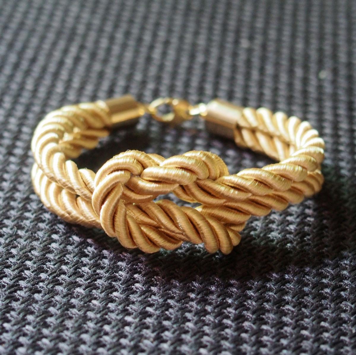 Gold-silk-rope-bracelet