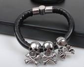 New fashion skull bracelet for men silver color