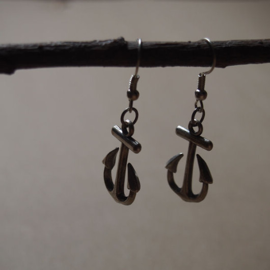 anchor-earrings-vintage-silver
