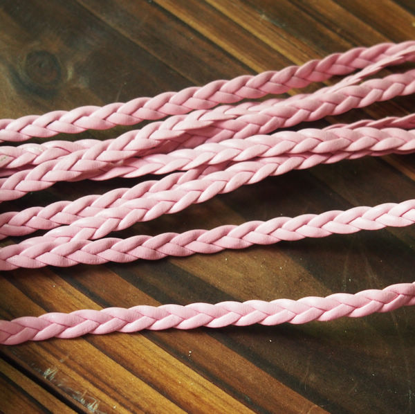 bracelet-supplies-braided-leather-pink
