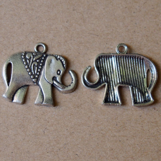 bracelet-supplies-silver-elephant-sign-wholesale