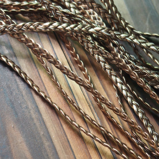 braided-leather-cord-vintage-copper-gold-color