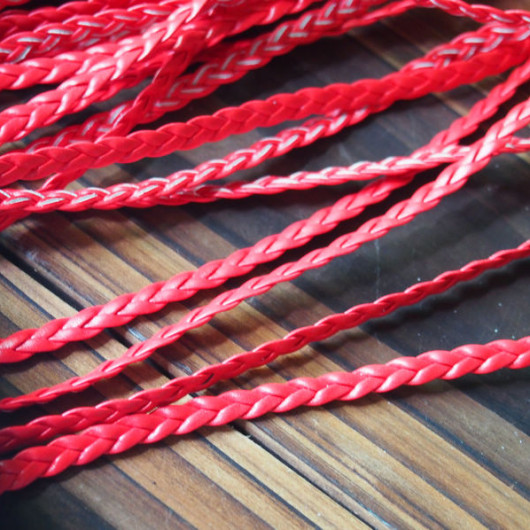 craft-supplies-red-braided-leather-cord