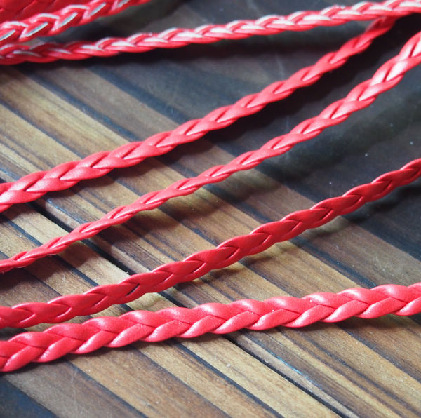wholesale braided leather cord