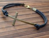 Bronze-cross-bracelet-for-women-men