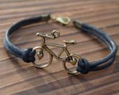 bike-bracelet-black-wax-cord-for-men