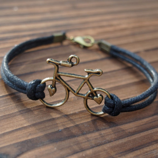bike-bracelet-black-wax-cord-for-men