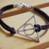 harry potter single bracelet brown imitation leather bracelet