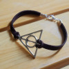 silver deathly hollow harry potter bracelet